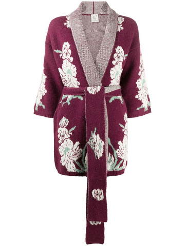L'AUTRE CHOSE embroidered knitted robe