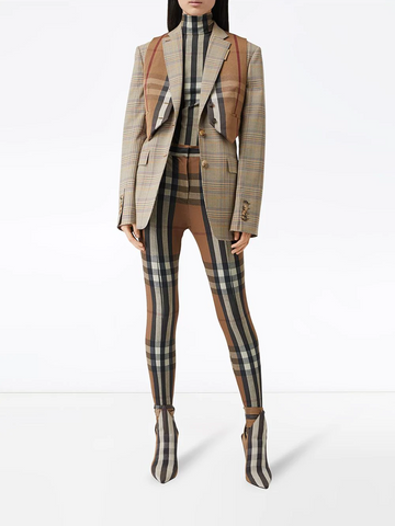 BURBERRY check oversized tailored jacket