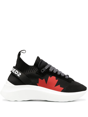 DSQUARED2 logo-motif lace-up sneakers