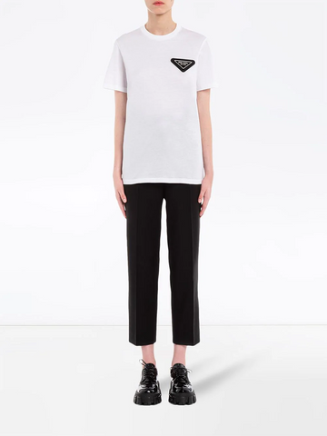PRADA logo patch T-shirt