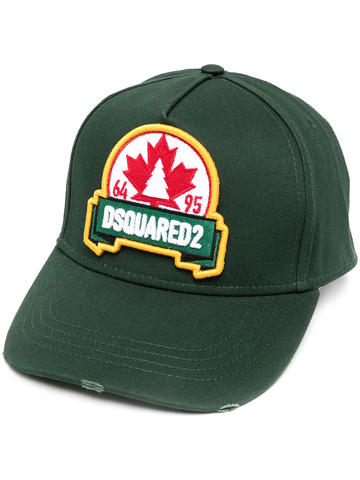 DSQAURED2 maple leaf patch cap