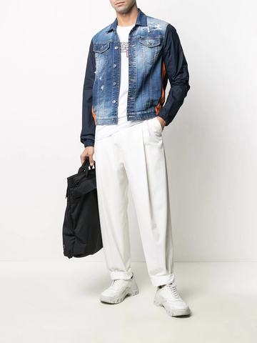DSQUARED2 contrast-sleeve denim jacket