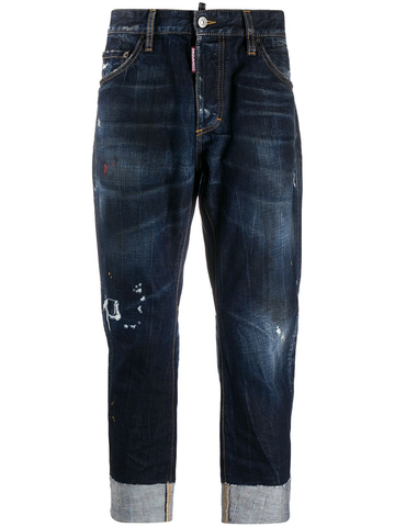 DSQUARED2 distressed turn-up cuff jeans