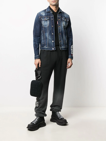DSQUARED2 faded denim jacket