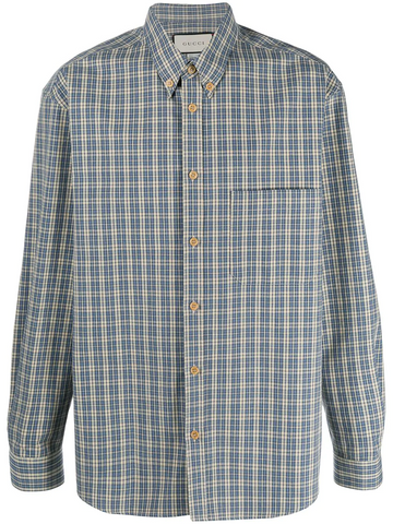 GUCCI checked button-down shirt