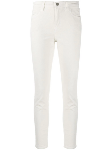 J BRAND white cotton trousers