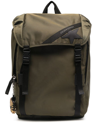 GOLDEN GOOSE logo patch backpack