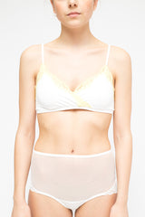 LA Rose lace bra white and yellow