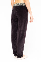 LA Rose chenille pants leo