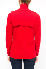 LA Rose jabot cashmere red