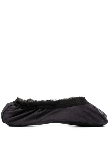 LANVIN logo embroidered ballerina slippers