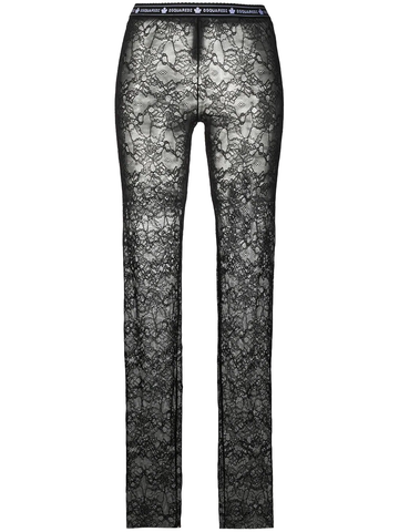 DSQUARED2 logo-waistband lace trousers
