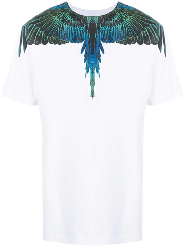 MARCELO BURLON Wings-print crew neck T-shirt