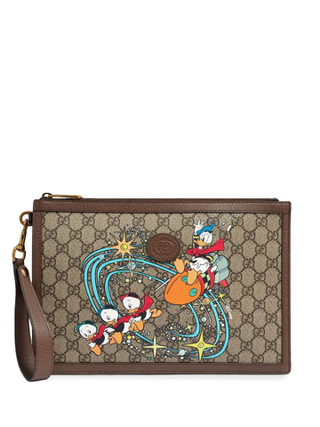 GUCCI x Disney Donald Duck clutch