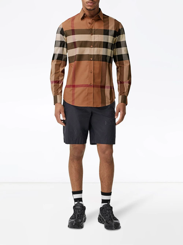 BURBERRY check poplin shirt