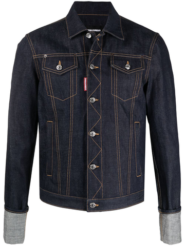 DSQUARED2 contrast-stitching denim jacket