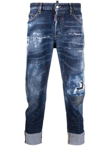DSQUARED2 turn-up hem ripped jeans
