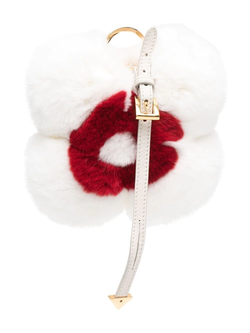 PRADA two-tone textured-finish keyring