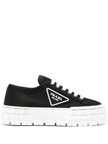 PRADA logo-patch flatform sneakers