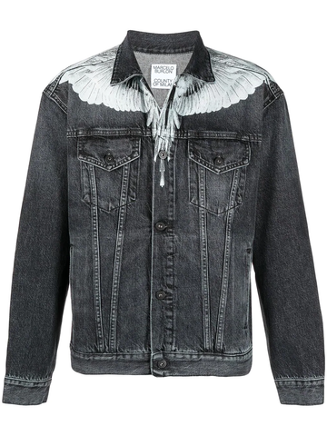 MARCELO BURLON button-front denim jacket
