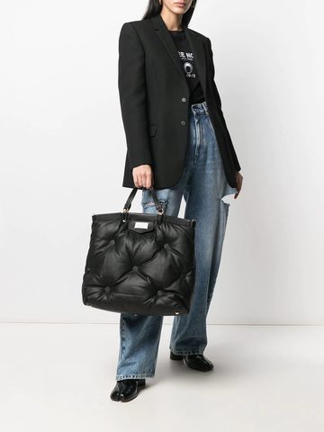 MAISON MARGIELA Glam Slam number patch tote bag