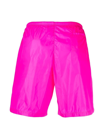 PALM ANGELS curved logo swimming shorts