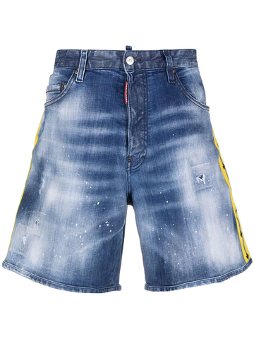 DSQUARED2 logo-trim denim shorts