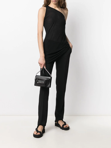 RICK OWENS one-shoulder cotton top