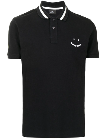 PAUL SMITH PS Happy cotton polo shirt