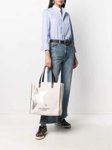 GOLDEN GOOSE Star-print canvas tote bag