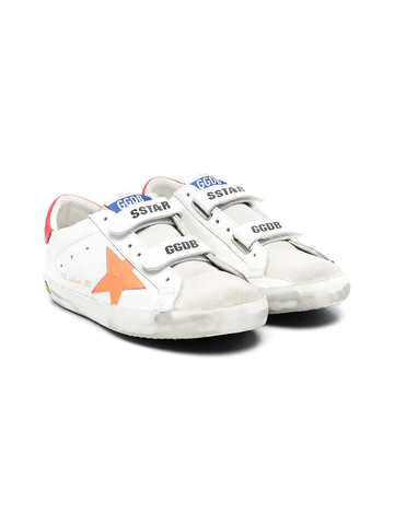GOLDEN GOOSE TEEN touch-strap distressed trainers