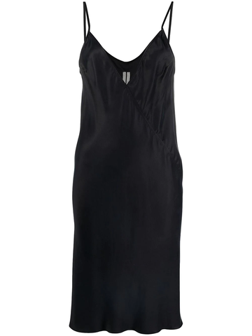 RICK OWENS -neck satin slip dress
