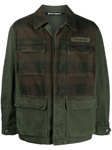 PALM ANGELS check-front jacket
