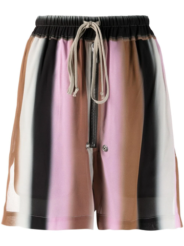 RICK OWENS gradient stripe shorts