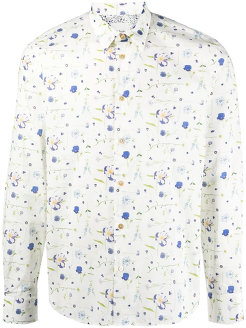PAUL SMITH floral long-sleeve shirt