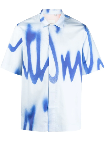 PAUL SMITH tie-dye short sleeve shirt