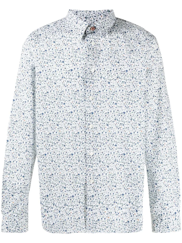 PAUL SMITH splatter-print shirt