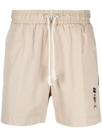 PALM ANGELS embroidered logo chino shorts