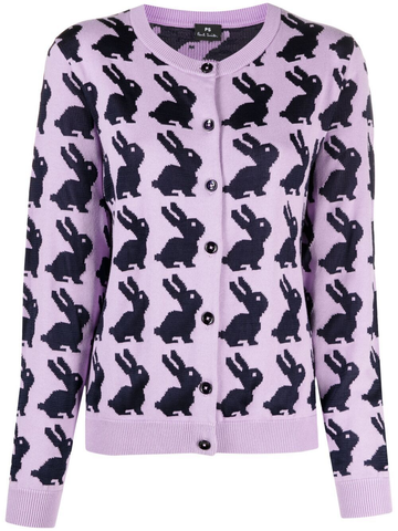 PAUL SMITH bunny-intarsia cardigan