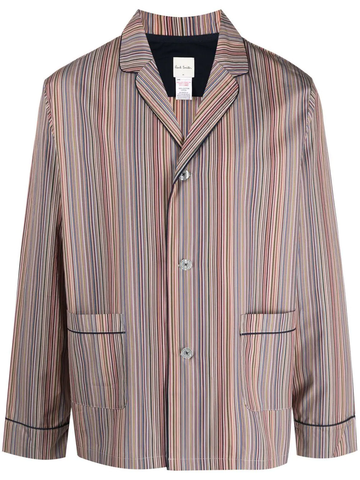 PAUL SMITH artist stripe cotton pajamas