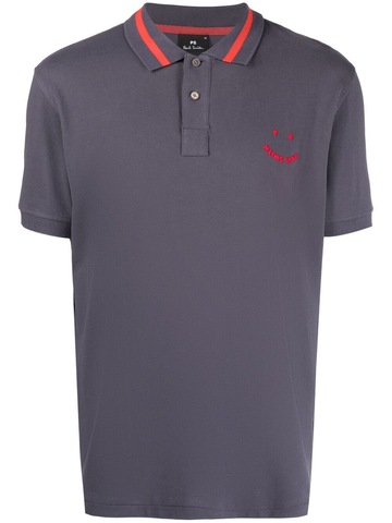 PAUL SMITH logo-embroidered cotton polo shirt