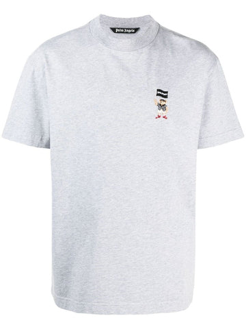 PALM ANGELS  logo-embroidered T-shirt