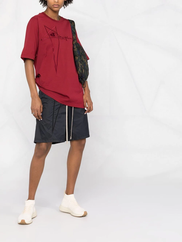 RICK OWENS+CHAMPION embroidered-logo jogger shorts