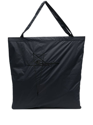 RICK OWENS+CHAMPION logo-embroidered tote bag