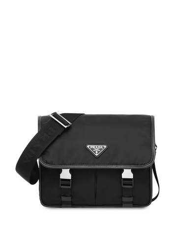 PRADA small Re-Nylon and Saffiano leather shoulder bag