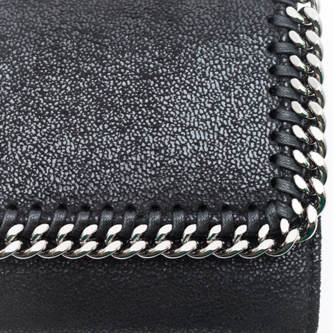 STELLA McCARTENEY Shaggy deer small flap wallet falabella
