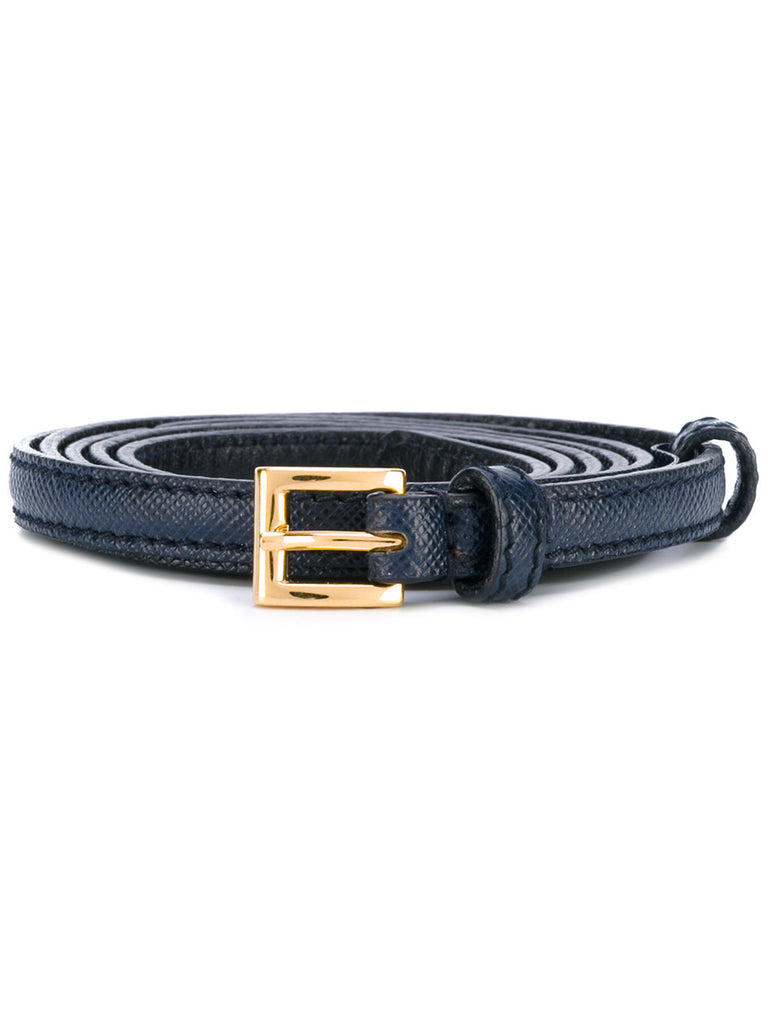 Prada belt baltic 1cm saffiano baltico