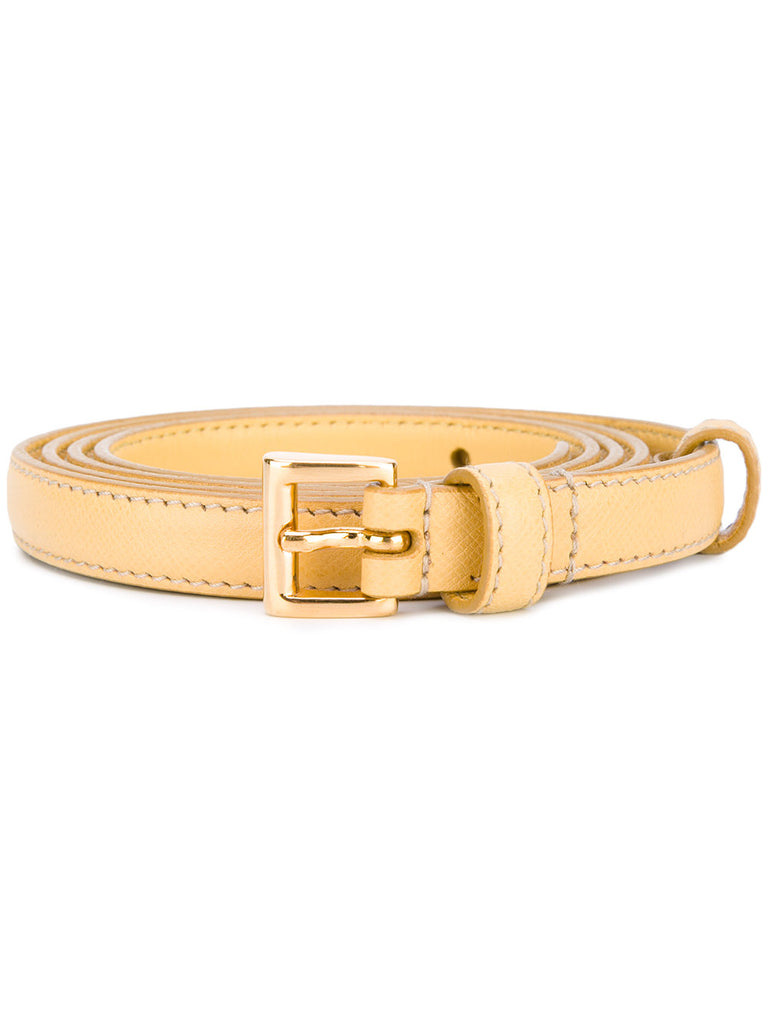 Prada belt yellow 2 cm saffiano
