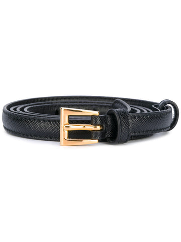 Prada belt black 1 cm saffiano black