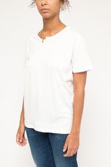 VALENTINO t-shirt spilla balia cotton White